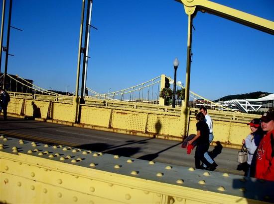 4 - walking Roberto Clemente Bridge.jpg