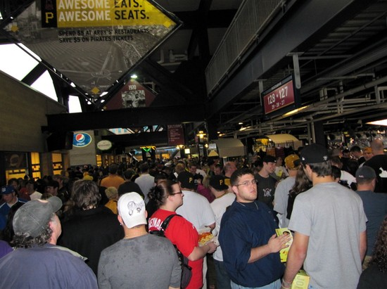 12 - busy rain delay concourse.JPG