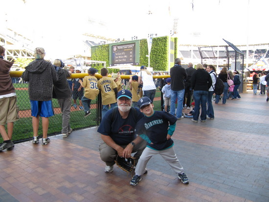 11 - Tim and Dad Petco Kid Field.JPG