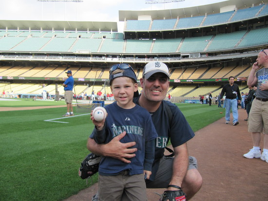 8 - on field at dodger stadium.JPG