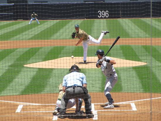 17 - Ichiro walks in 1st 6-13-10.JPG