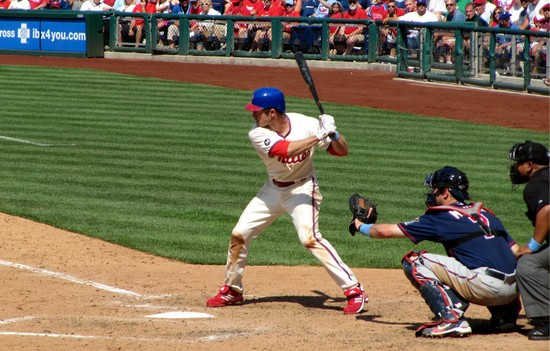 34 - Chase Utley about to ground out in 9th 6-20-10.JPG
