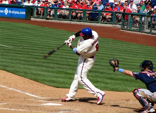 36 - Ryan Howard singles in 9th 6-20-10.JPG