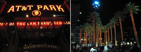 39 - Willie Mays Gate and Orange Palm Trees.JPG