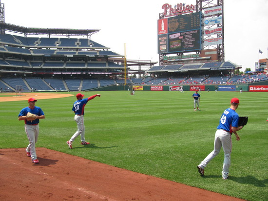 4 - Moyer and Halladay tossing.JPG