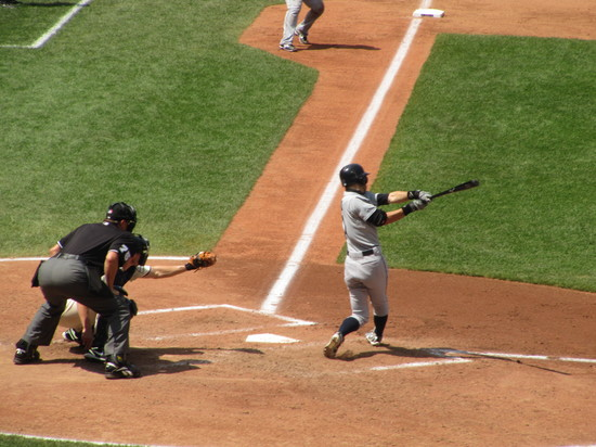 18 - Ichiro crushes bases loaded line-out.JPG