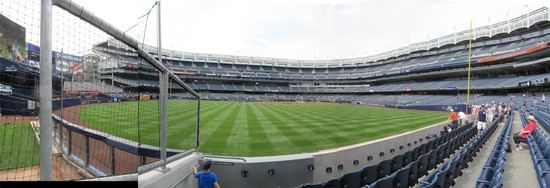 1a - Yankee Stadium LF field level panorama.jpg
