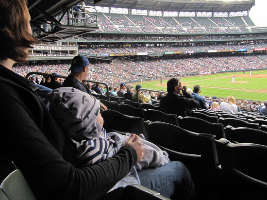 24 - colleen and kellan watching some baseball.JPG
