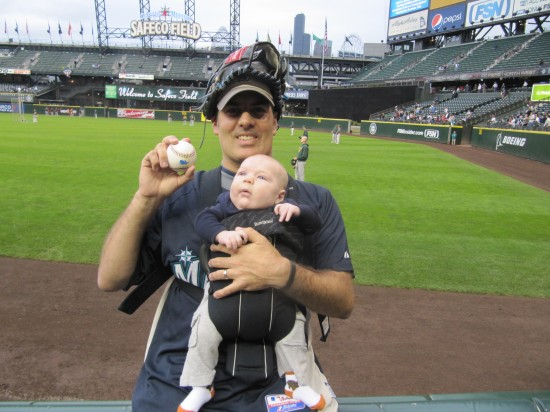 6 - Kellan's first baseball.JPG