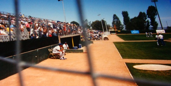 26c - TJC in M's dugout spring training.JPG