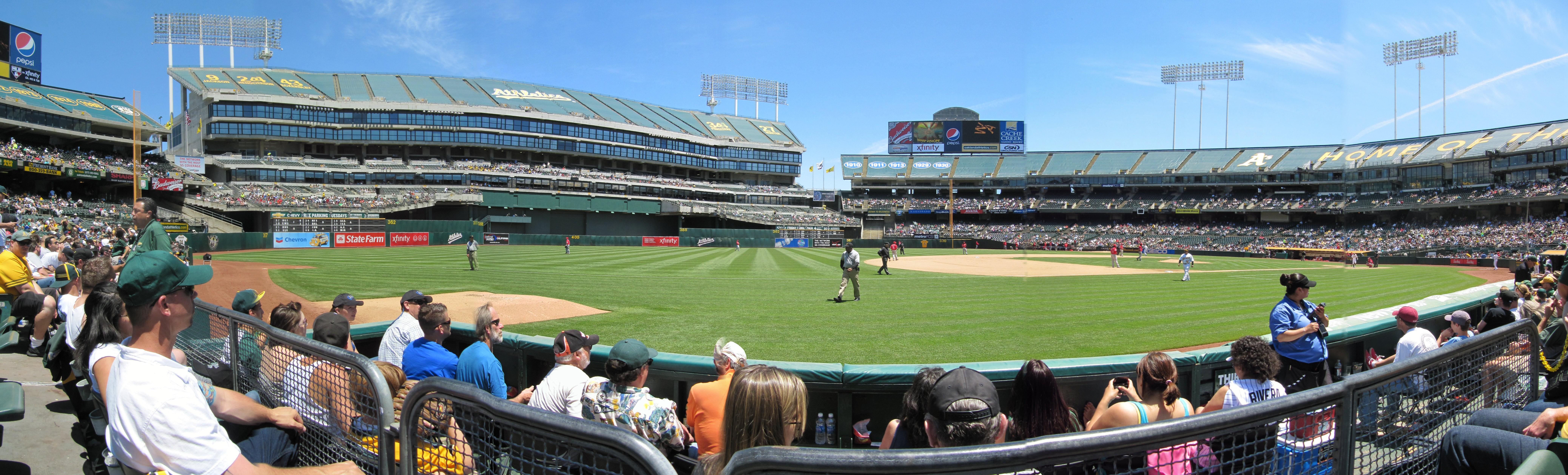 Oakland Coliseum Panoramas Cook Sons Baseball Adventures