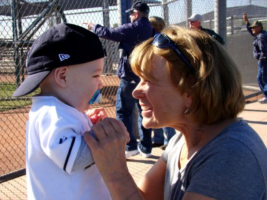 17 - grandma and kellan at spring training.JPG