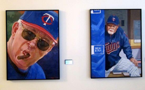 19 - Target Field Tom Kelly and Ron Gardenhire paintings.JPG