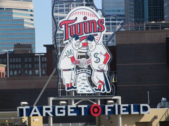 20 - Target Field Minnie and Paul Sign.JPG