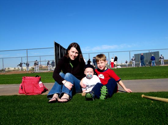 23 - colleen kellan tim chillin on the grass at spring training.JPG