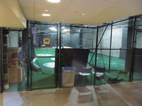 32 - Target Field Champions Club view of Twins batting cages.JPG