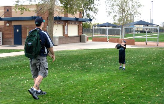 4 - father-son Spring Training catch.JPG