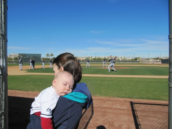 8 - kellans first spring training picture.JPG