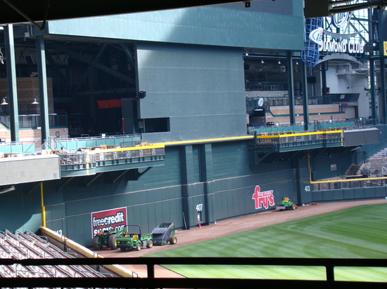 10 - Chase Field weird center field wall.JPG