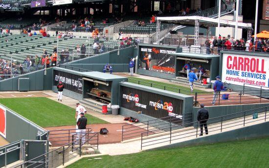 10 - Orioles Rangers bullpen activity.JPG
