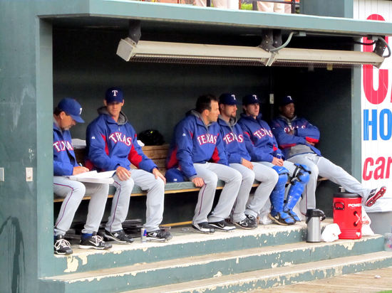 14 - Rangers bullpen at Camden Yards.JPG