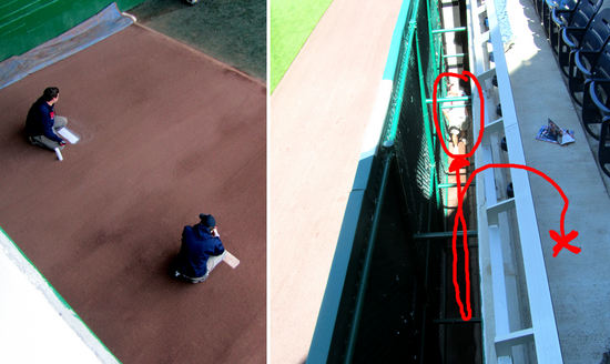 3 - bullpen painting and gap climbing.JPG