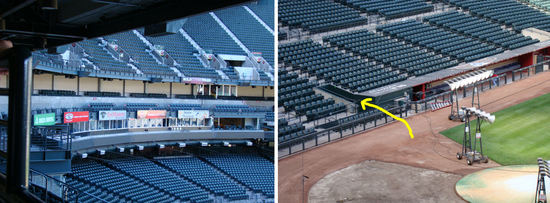 48 - Chase Field behind home and umpire tunnel.JPG