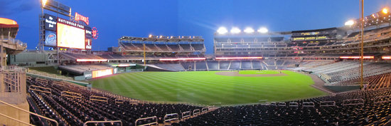 51 - Nationals Park section 105 concourse post-night game panorama.jpg