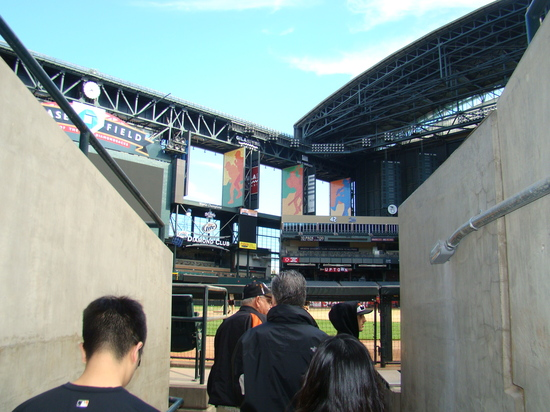 52 - Chase Field walkway to dugout suite.JPG