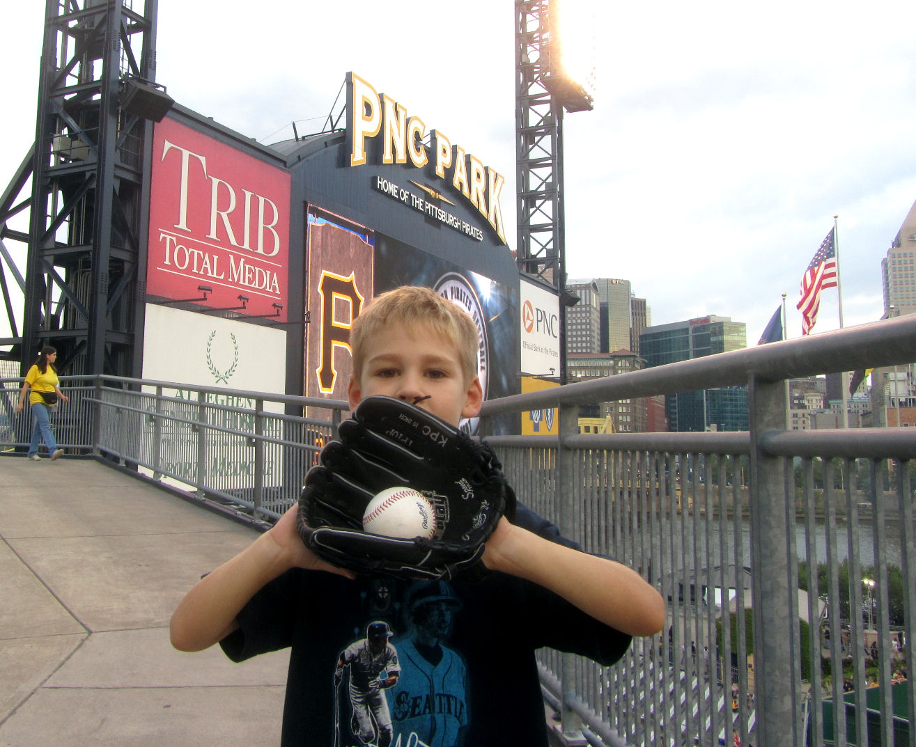 We headed up the ramp and got Tim 39s PNC Park bonus picture for the